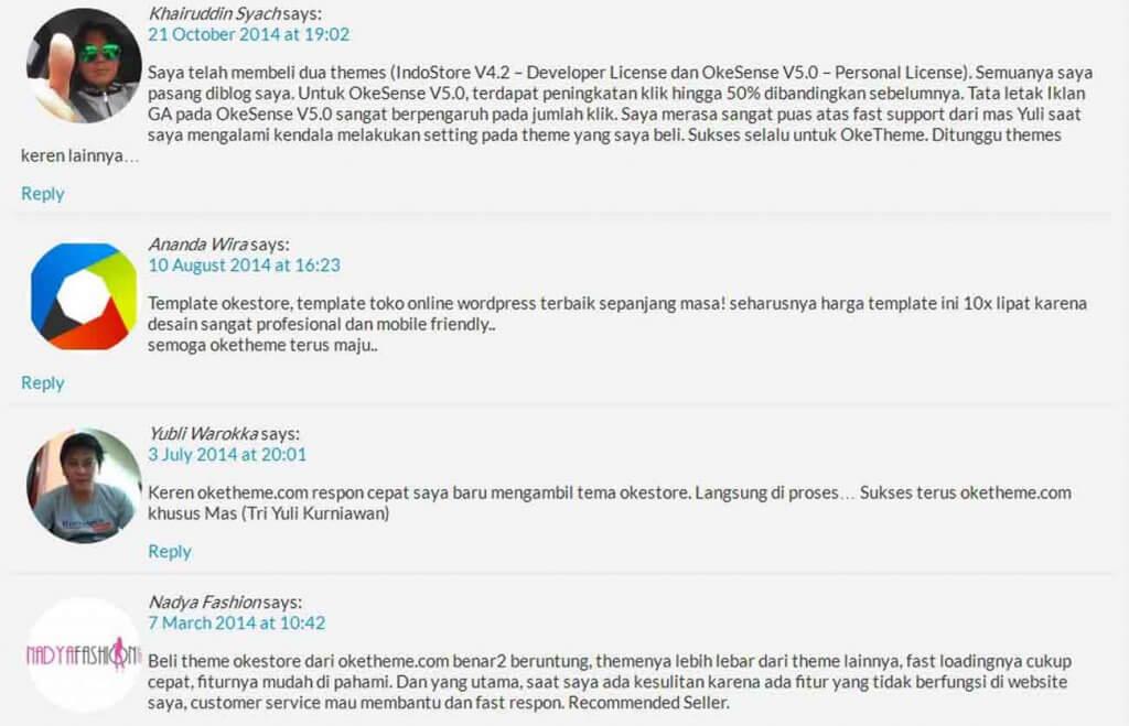 testimoni-pengguna-theme-wordpress Adsense