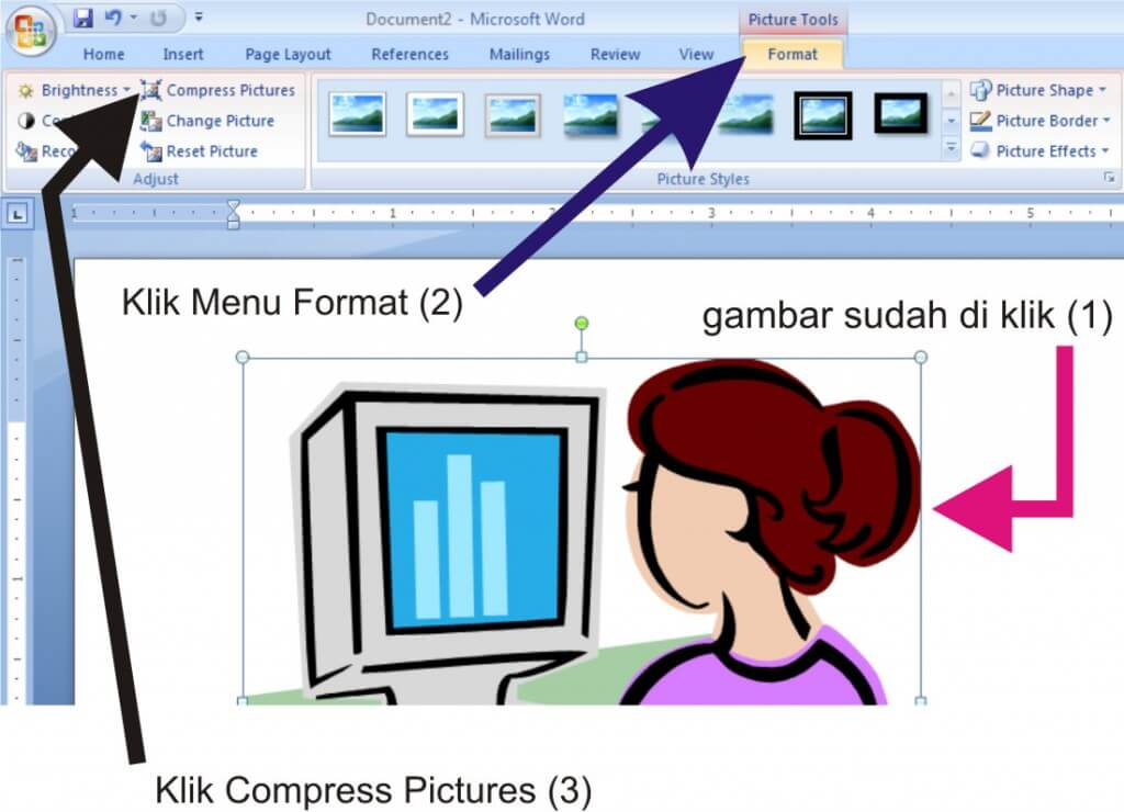 Cara Compress Picture Microsoft Office 2007