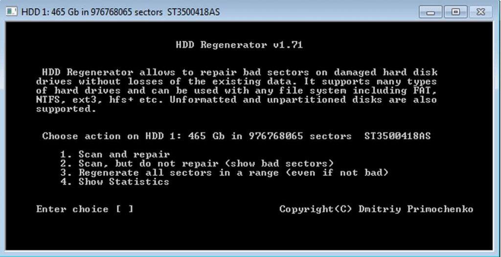 Proses Berjalan Repair Hard Disk Bad Sector