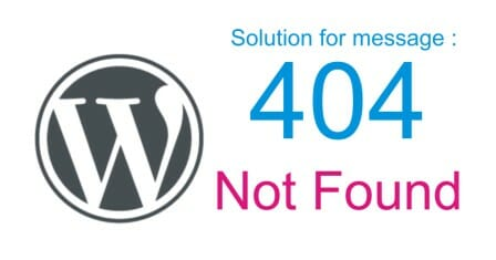 Website WordPress alami 404 Not Found