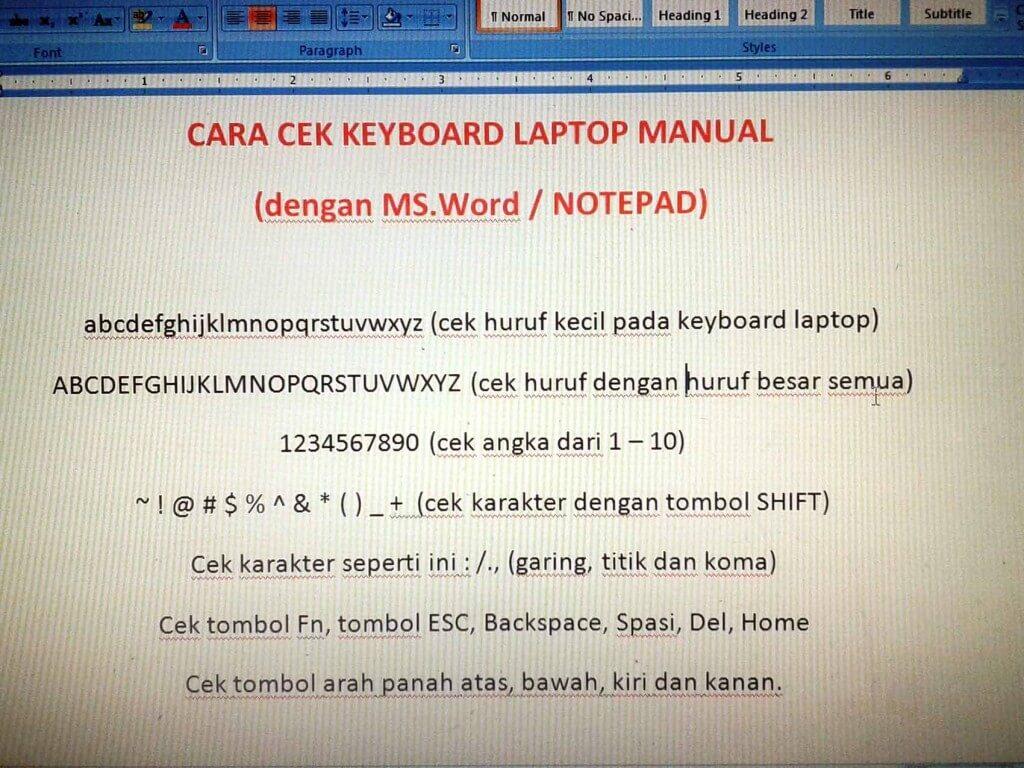 Cara-cek-keyboard-laptop-manual