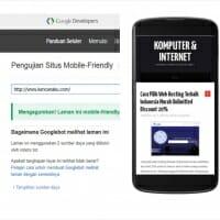 Cara Test Website Support Mobile Friendly (Ramah Seluler) Yang Benar