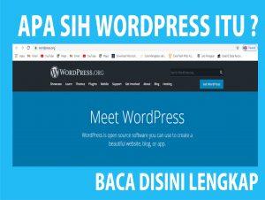 apa sih wordpress itu ?